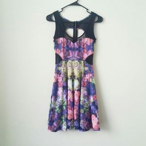 Material Girl Dresses & Skirts - 3 for $45 Bag/ Floral Insert Mesh Skater Dress
