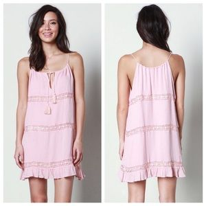 Dresses & Skirts - Pink Crochet Ruffle Slip Dress