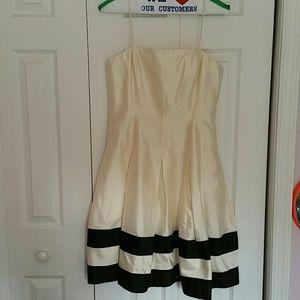 Lauren by Ralph Lauren silk flair dress