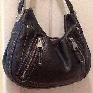 b. makowsky Handbags - B. Makowsky black leather hand bag