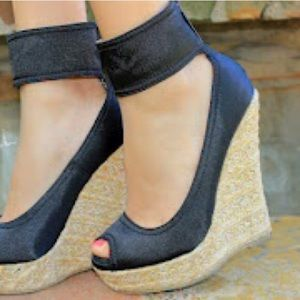 Shoes - Ankle strap wedges