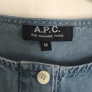 APC denim shirt