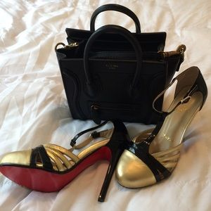 Christian Louboutin Shoes - Gold & Black Chrissy Lou's.