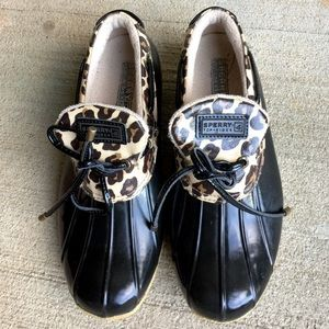 Sperry Top-Sider Shoes - Sperry Leopard Duck Boots!❤️