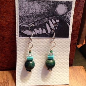 Jewelry - Jade and  turquoise earrings.