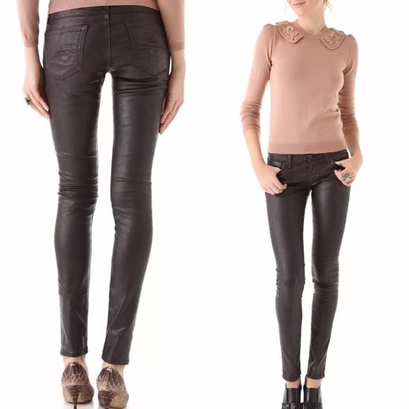 3812977641e436 AG Adriano Goldschmied Pants | Legging Coated Super Skinny | Poshmark