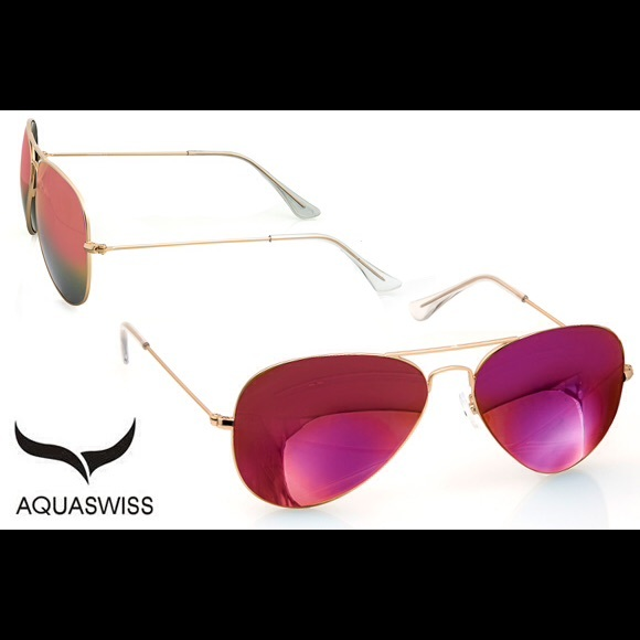 bb850947055 NWT AQS Pink Aviator Sunglasses