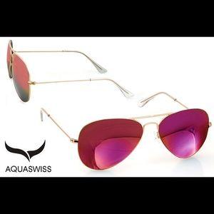 AQS Accessories - NWT AQS Pink Aviator Sunglasses
