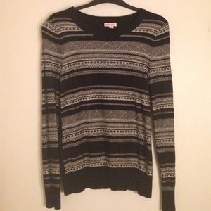 Black & White Knit Sweater