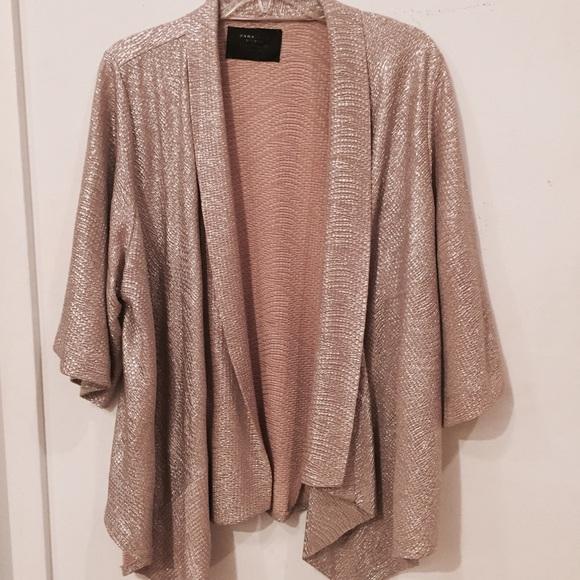 62% off Zara Jackets & Blazers - Zara Gold Metallic Kimono ...
