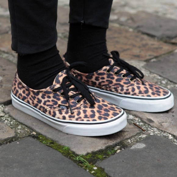vans shoes leopard