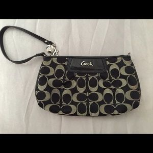 Coach Signature Sateen Large Wristlet
