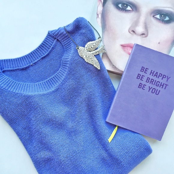 70% off H&M Sweaters - H&M periwinkle blue purple cropped sweater ...