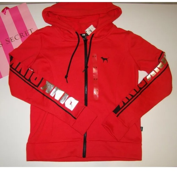 PINK Victoria's Secret - 🚫SOLD🚫NEW PINK VS RED HOODIE from ...