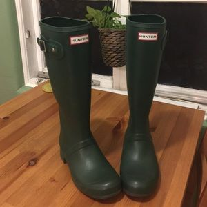 Hunter Rain Boots - Tall Green