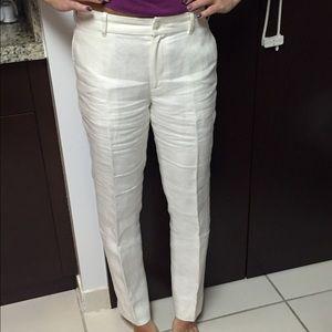 picked up discount shop nice shoes Ralph Lauren linen pants! Off white!