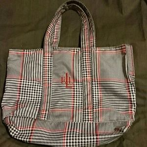 Ralph Lauren plaid tote