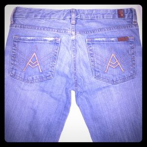 7 for all Mankind light blue denim jeans