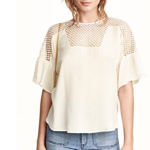 H&M Tops - Brand new* Blouse with trumpet sleeves