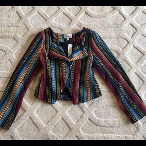 [❗️sale] NWT SABINE Aztec Beatriz Moto Jacket