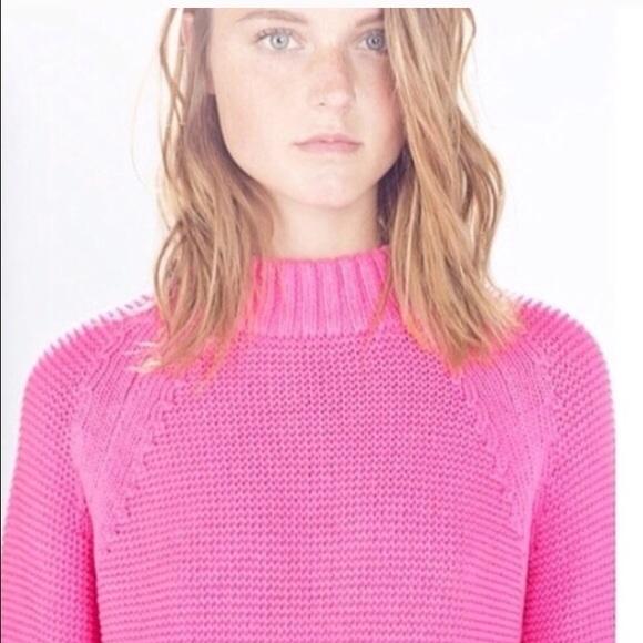 Zara - Zara Pink Mock Neck Sweater from Cara's closet on Poshmark