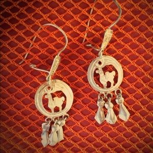 Beautiful sterling silver hand made earrings