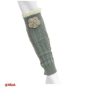 ICON Accessories - 🎁HOST PICK 🎁 Crocheted Flower Leg Warmers