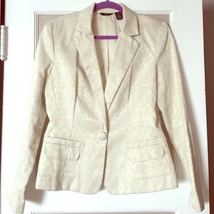 Beautiful brocade blazer off white office fabulous