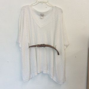 Off white knit styled top . Size approx. L or XL
