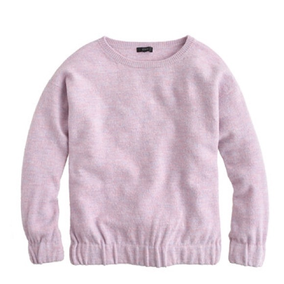 80% off J. Crew Sweaters - J.Crew boiled wool sweater light pink ...