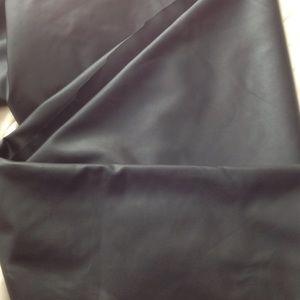 Faux black leather peplum skirt