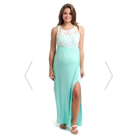 a3b62f28e5f1a PinkBlush Maternity Dresses   Nwot Mint Green Lace Top Maternity ...