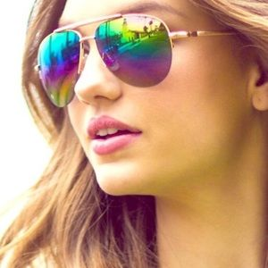 Rainbow mirrored aviator sunnies