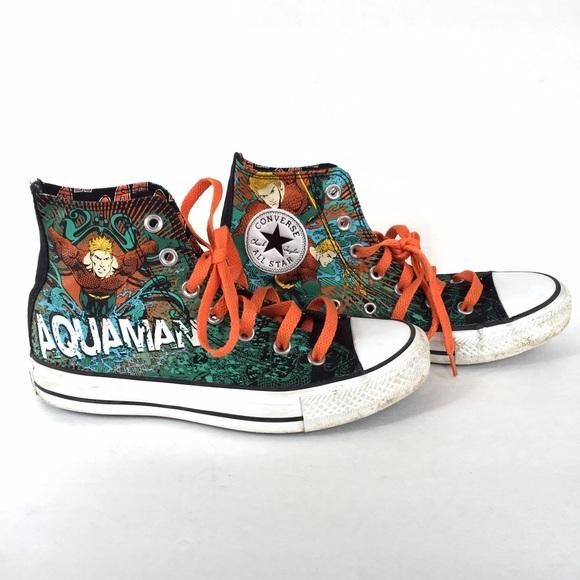 00a1c5af1250 Converse Shoes - Converse All Star Aquaman high tops size 7
