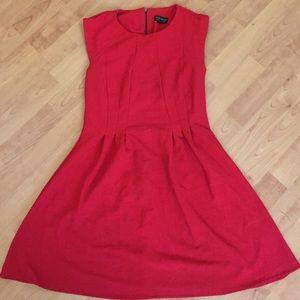 Red topshop skater dress size 6