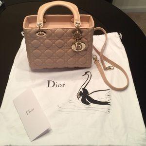 01adc86ebc Dior Bags | Classic Lady Medium Nude | Poshmark