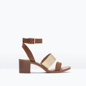 FINAL PRICE ❤️Tan Heel with Metallic Detail