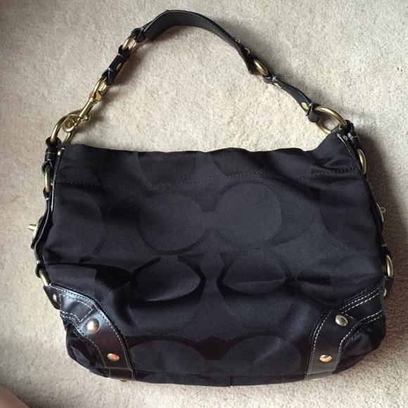 f69d6b1dd1f0 Coach Handbags - Coach Signature Carly Hobo Jacquard Shoulder Bag