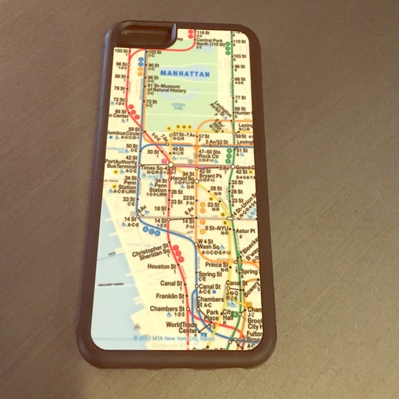 Subway Map From 14th To Chambers.Iphone 6 Case Ny Subway Map