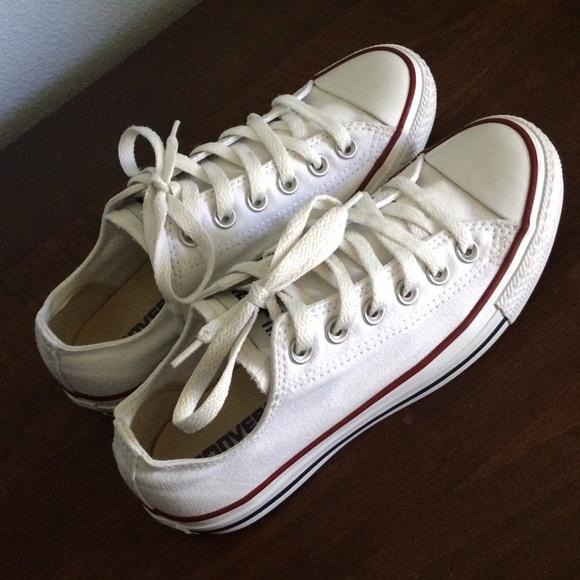 c26e5859fe64 Converse Shoes - White Converse 6.5