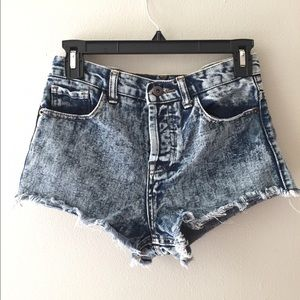 Acid Wash F21 Shorts