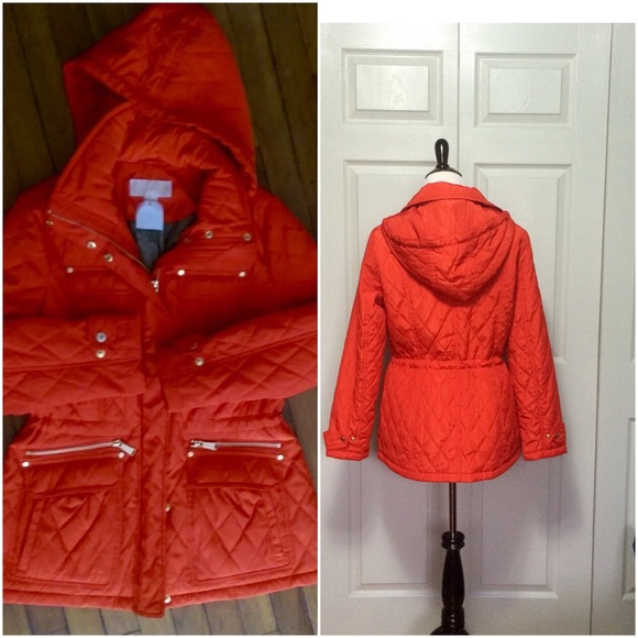 Michael Kors Jackets Blazers Nwt Michael Kors Quilted Red Winter