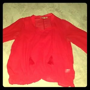 Orange red blouse