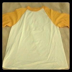 Cotton yellow & white shirt