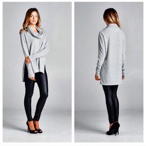 Sweaters - Cowl neck tunic