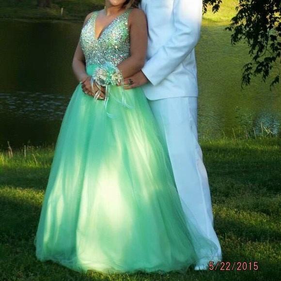 Blush Dresses   Mint Green Prom Dress   Poshmark