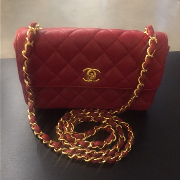 dbcdb554fdf7 CHANEL Bags | Sold Authentic Red Leather Mini Crossbody | Poshmark