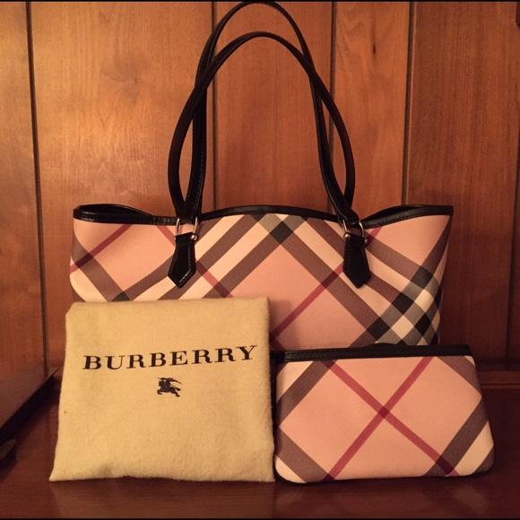 Burberry Handbags - Burberry Nova Nickie Tote with Wristlet. 80cd444d4a300