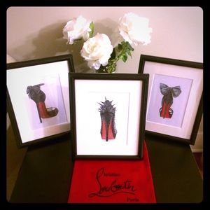 Christian Louboutin Other - Set of 3 - Louboutin Closet Art ✨ships tmrw am✨