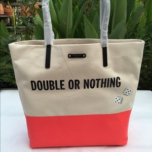 Kate Spade Dice Double or Nothing Tote Bag NWT